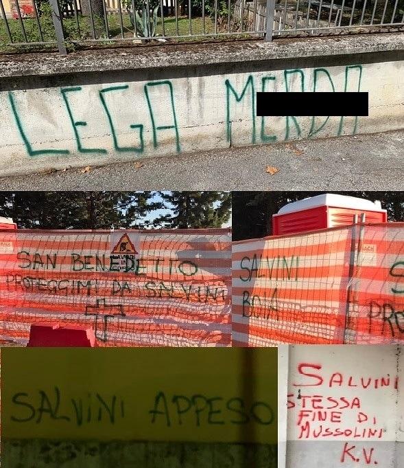 Scritte contro Salvini-3