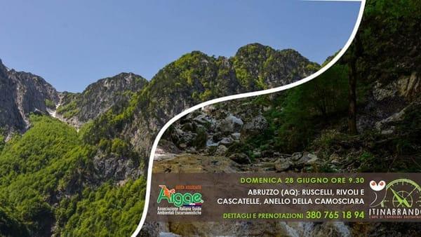 Abruzzo: ruscelli, rivoli e cascatelle, anello della Camosciara