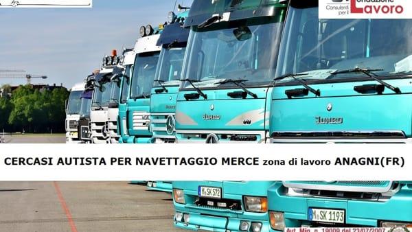 Anagni, offerta lavoro: autista per navettaggio merce