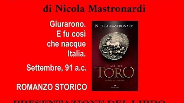 """Anagni, presentazione del libro """"Figli del Toro"""" di Nicola Mastronardi"""