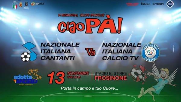 """Frosinone, in campo per """"Ciao Pà"""" al Benito Stirpe"""