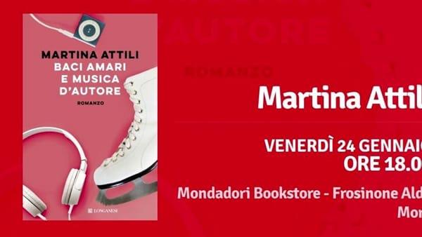 """Frosinone, Martina Attili presenta """"Baci amari e musica d'autore"""""""