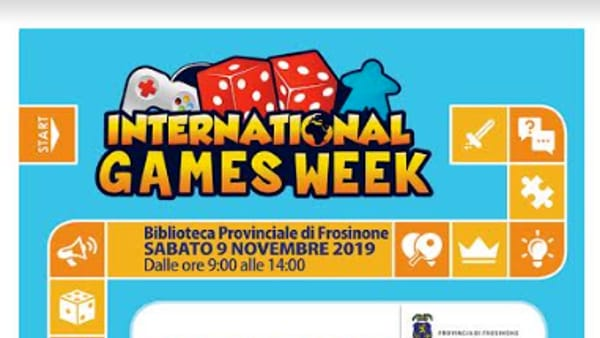 Frosinone, International Games Week @ your library