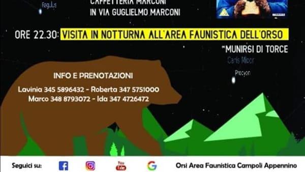 Campoli Appennino, visita notturna all'area faunistica