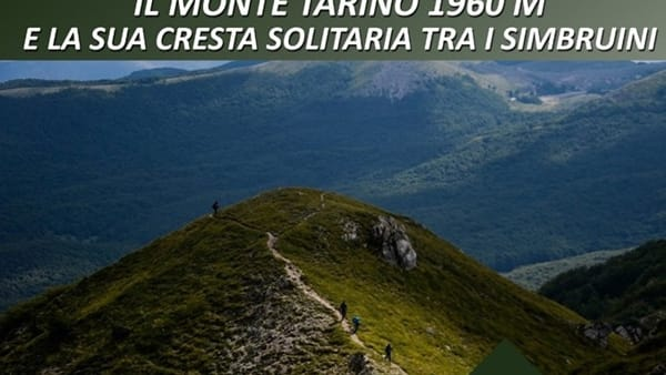 Il Monte Tarino e la sua cresta solitaria tra i Simbruini