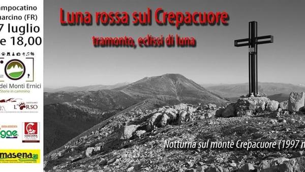 """Guarcino, """"Luna rossa sul Crepacuore"""""""