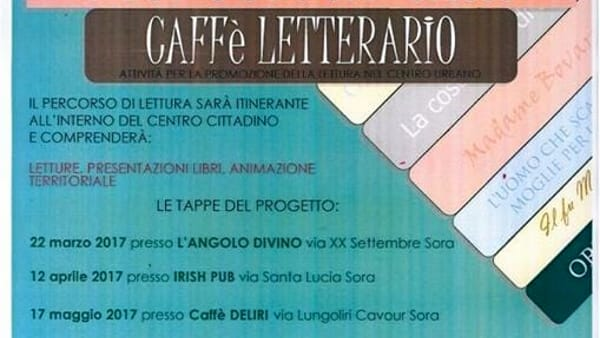 Sora, mercoledì al Caffè Letterario