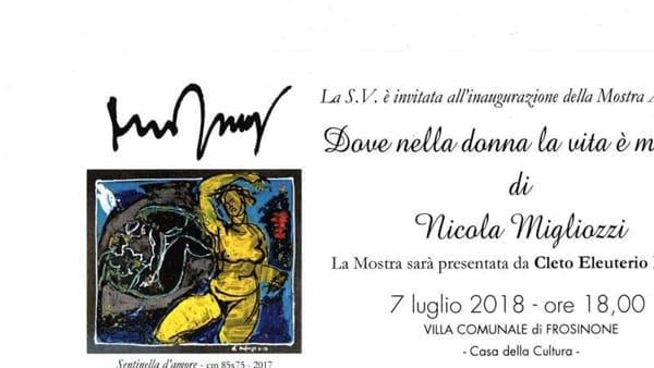 Frosinone, mostra antologica di Nicola Migliozzi