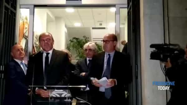VIDEO | Taglio del nastro per la nuova sede Asi di Frosinone, presente il presidente Zingaretti
