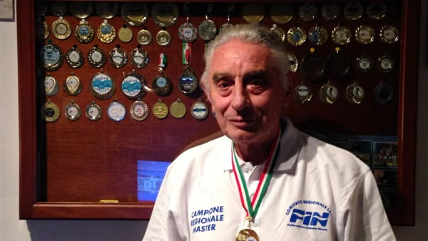 Tc New Country Club, nuoto - Piana l'inossidabile, campione regionale a quasi 76 anni