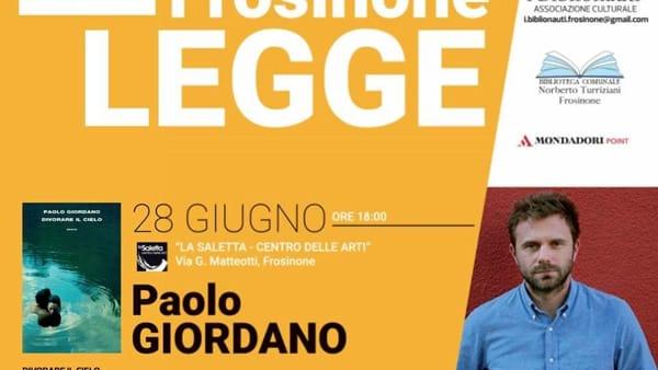 """Frosinone, Paolo Giordano presenta il suo romanzo """"Divorare il cielo"""""""