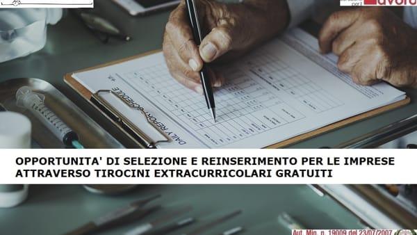 Ex lavoratori Almaviva, opportunità di selezione e reinserimento per le imprese attraverso tirocini extracurricolari gratuiti