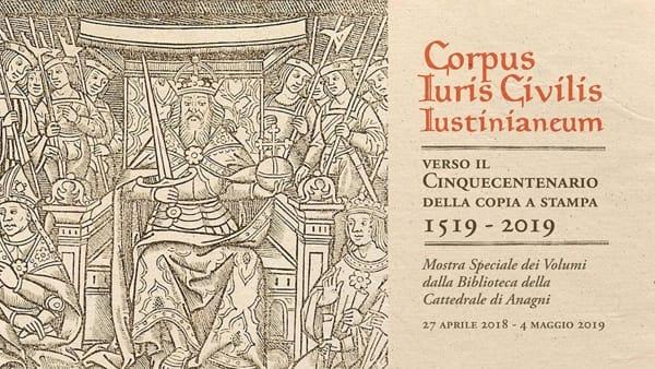 """Anagni, in mostra il """"Corpus iuris civilis"""""""