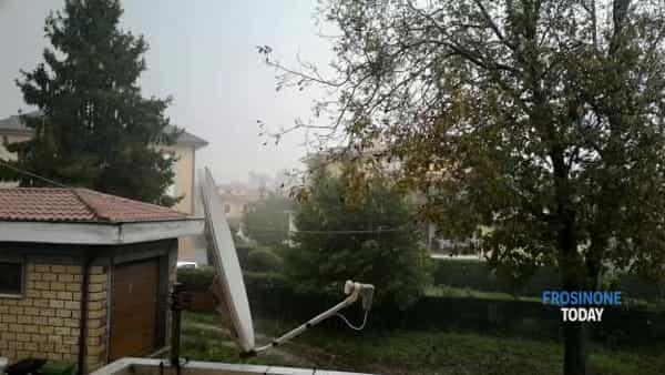 VIDEO | Maltempo, temporali e vento forte sferzano la Ciociaria e le zone a sud di Roma