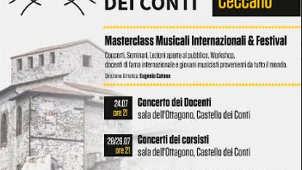 """Ceccano, """"Incontri musicali al Castello dei Conti"""""""