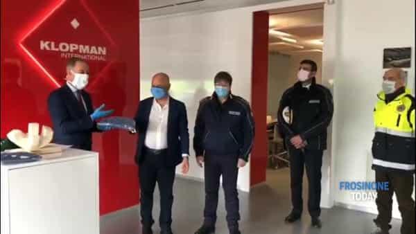 VIDEO | La Klopman dona 100 mascherine al Comune di Frosinone