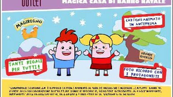"""Valmontone outlet, """"Aspettando il Natale  con Lampadino e Caramella"""""""