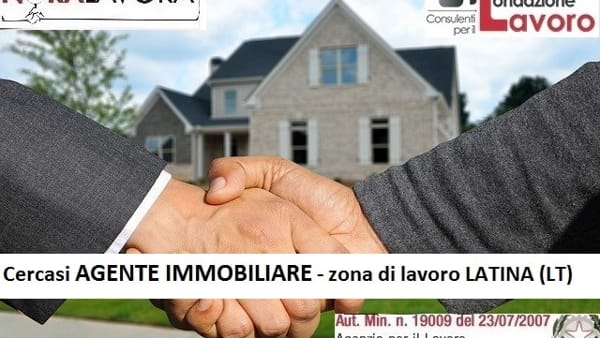 Offerta lavoro, si ricerca agente immobiliare