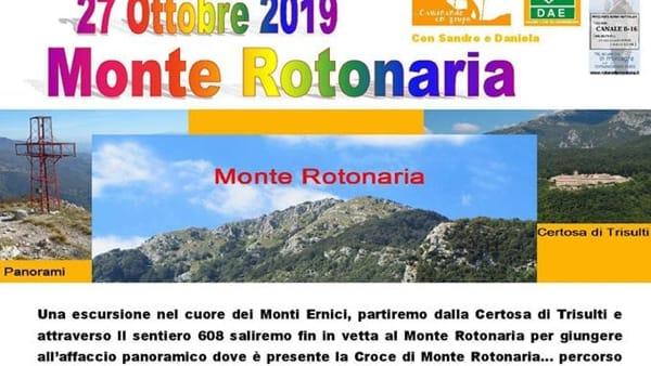 Escursione sul Monte Rotonaria