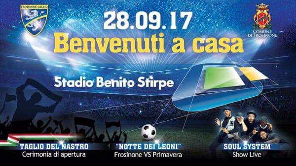 Frosinone, inaugurazione del nuovo stadio Benito Stirpe