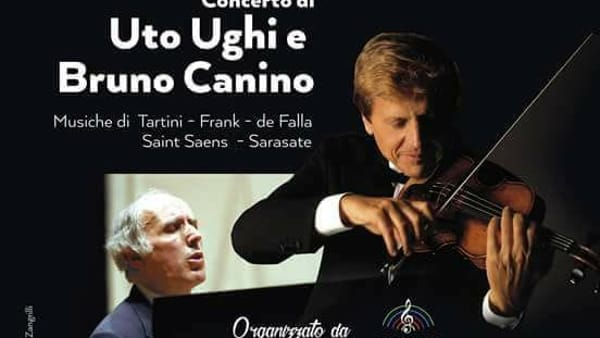 Frosinone, concerto di Uto Ughi e Bruno Canino