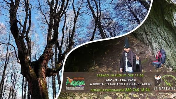 Primi Passi: Lazio, la grotta del brigante e il grande acero