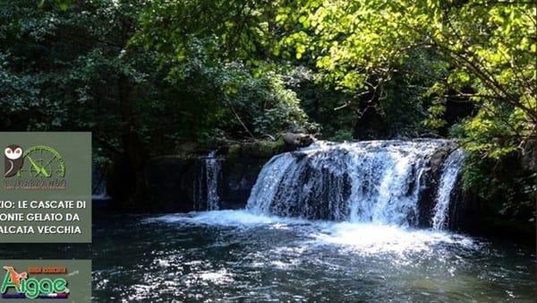 Le cascate di Monte Gelato da Calcata Vecchia