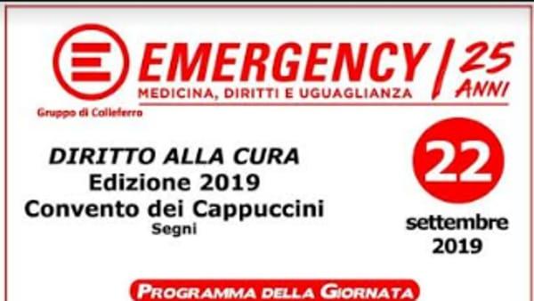 Segni, Emergency - diritto alla cura