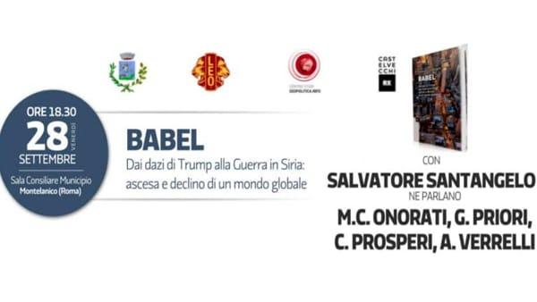 "Montelanico, Salvatore Santangelo presenta ""Babel"""