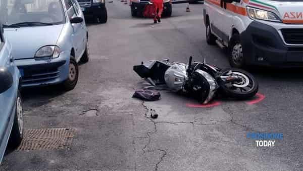Incidente Cassino scooter-2