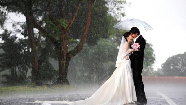 Matrimonio sotto la pioggia. Consigli e rassicurazioni