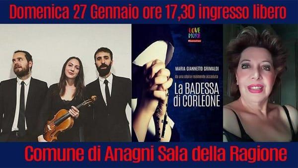 """Anagni, Maria Giannetto Grimaldi presenta """"La Badessa di Corleone"""""""