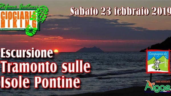 Tramonto sulle Isole Pontine