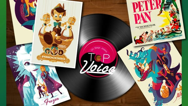 Flyer Top Voice Cartoon